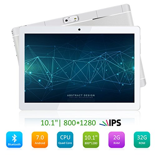 "Price comparison product image 10.1"" Inch Android Tablet PC,PADGENE M10 2GB RAM 32GB Storage Phablet Tablet Quad Core Unlocked 3G Cell Phone Tablets Dual Camera Sim Card Slots, Wifi, GPS, Bluetooth 4.0,1280x800 HD IPS Screen Display, Google Play [2018 New Release]"