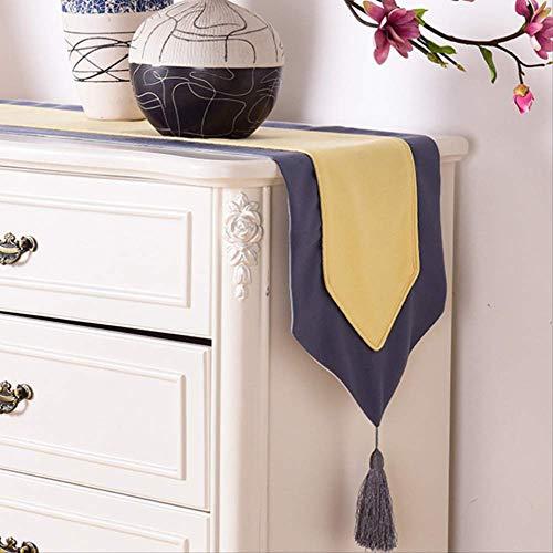 TTQIAOHUA Tischläufer Volltonfarbe Mosaik Tisch Couchtisch Tv Schrank Bett Schal Hotel Polyester 32X200 cm A
