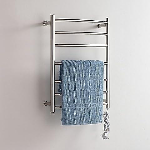 304 Edelstahl Elektrische Wand montiert Handtuch Wärmer Bad Beheizte Handtuchhalter (Boden Montiert Handtuchwärmer)