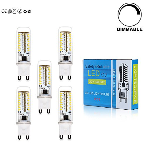 5x-dimmbar-g9-led-lampe-35w-warmweiss-420lm-28003200k-70x3014-smd-mit-pc-mantel-ac200-240v