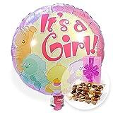 Helium Ballon Babygirl und Belgische Pralinen
