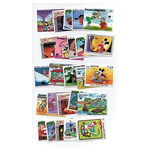 Disney Cartoon Postage Stamps, World, Worldwide Unmounted Mint Stamps Collectable