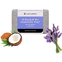 Naturma Lavender Handmade Soap, Natural and Organic, Soothes Relaxes Gentle, 125gm