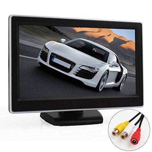 ePathChina® 5 Zoll TFT LCD Digital Auto Sicherheits View Monitor mit Auto Rückfahrkameras 2 Video-Eingang, Hochauflösende Bilder & Vollfarb-LCD-Display mit Hintergrundbeleuchtung für Auto-DVD / Kamera / VCD / GPS / anderen Videogeräten