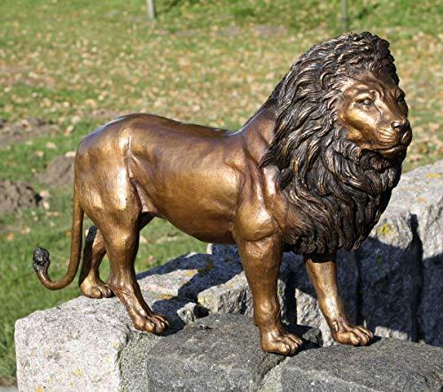 H. Packmor GmbH Löwe Bronze Skulptur lebensecht Statue Tier Raubtier Dekoration