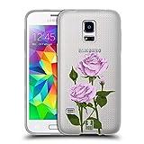 Head Case Designs Pfund Silber Rosen Und Wildblumen Soft Gel Hülle für Samsung Galaxy S5 Mini