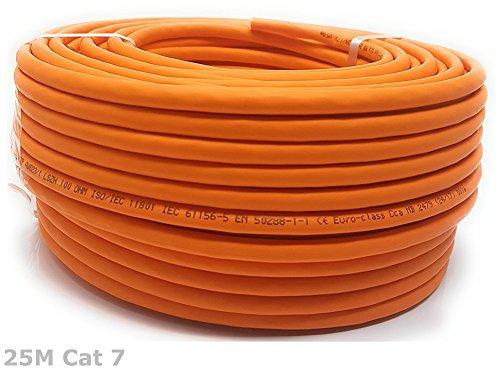 Bobine 25 m Gigabit cuivre, sans halogène Câble Ethernet Cat 7 1000 MHz