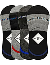 Big Tree C05A3008XXCT Cotton Loafer Socks, All Pack of 4 (Multicolour)