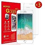 Mopiss Verre Trempé pour iPhone 6, iPhone 6s, iPhone 7, iPhone 8 (4.7'), [Pack de 3]...