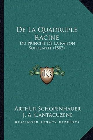 de La Quadruple Racine: Du Principe de La Raison Suffisante