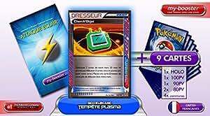 DRESSEUR CHERCH'OBJET 128/135 Tempete Plasma - Booster optimisé Attaque Eclair de 10 cartes pokemon Francaises