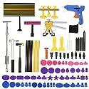 KKmoon Paintless Dent Repair Tool Kit LED Check-Line Board Dent Lifter Puller Folie Hammer Hahn nach unten
