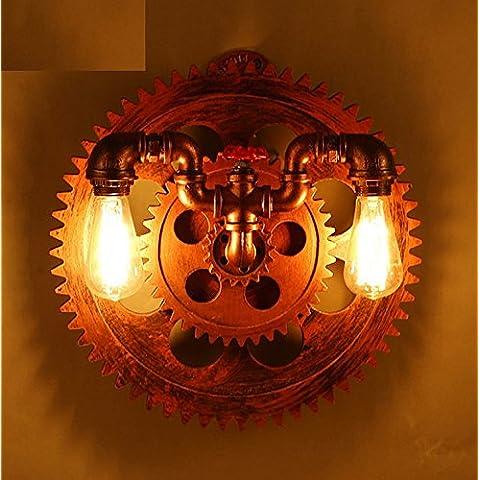 Winson Aria Industriale tubi retrò Loft Lampade da parete dentata luci a parete Restaurant Cafe Lounge e una camera da letto Studio lampade decorative