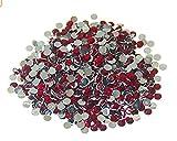 Hemore - Lote de 1000 Piedras de estrás Rojas de Cristal Plano de 4 mm para Halloween, decoración de Navidad, Regalo de Agradecimiento