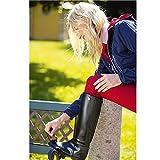 Kerbl Reitstiefel Flexo Gr.36 Schwarz, Kunststoff, Unisex-Erwachsene Reitsportschuhe, Schwarz (schwarz; 19-0303), 36 EU (3.5 Erwachsene UK) - 3