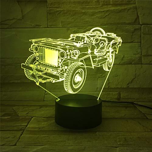 Dekorative Schreibtischlampe Neue visuelle 3D-Lampe bunte Steigung dekorative LED-Atmosphäre 634 uuuuuuuuuu - 634 Lampen