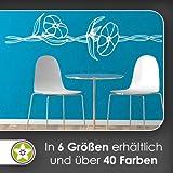 Kiwistar Blumen - Ranken Wandtattoo in 6 Größen - Wandaufkleber Wall Sticker