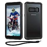 Beeasy Cover Samsung Note 8 IP68 Impermeabile, Custodia Galaxy Note 8 Subacquea Protettiva Antiurto, 360 Gradi Full Body Protezione Schermo Custodia, Rugged Militare Armor Case