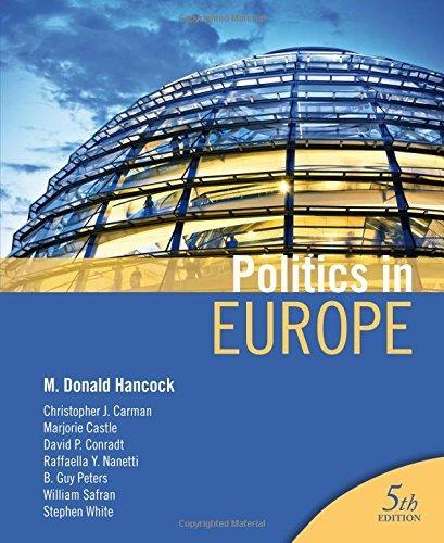 Politics in Europe by M Donald Hancock (2011-02-15)