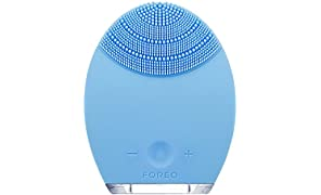 FOREO LUNA Face Exfoliator Brush and Silicone Cleansing Device for Combination Skin, with 2 Year Warranty & 10 Year Quality Guarantee