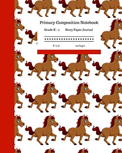 Primary Composition Notebook Grades K-2 Story Paper Journal 8