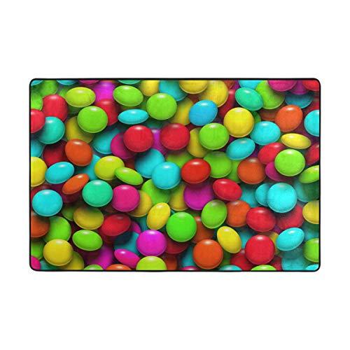 MONTOJ, Bunte Regenbogenfarben/Candy Weathertech Fußmatten für Wohnzimmer, Schlafzimmer, Heimdekoration, Teppich, Polyester, 1, 72 x 48 inch