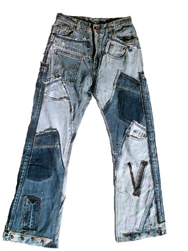 TICILA Phat Dutch London Herren Jeans blau Designer Rock Star Patchwork Denim W33/L34 - Jeans Phat