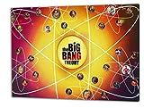 Big Bang Theory, Format: 80x60 Bild auf Leinwand gespannt, Leinwandbild, 1A Qualität zu 100% Made in Germany! Kein Poster Kein Plakat! Echtholzrahmen mit beigelieferten Zackenaufhängern. Fertig bespannt, Sofort dekorieren. Vier verschiedene Formate.