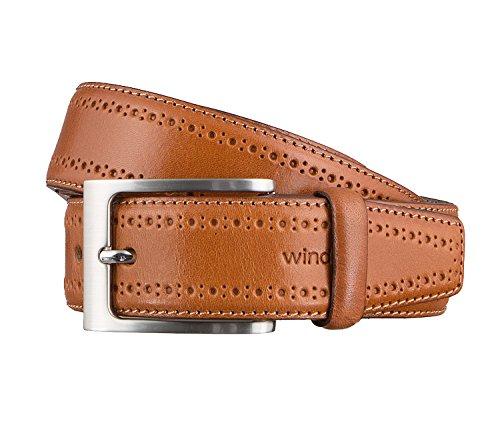 Windsor. Gürtel Herrengürtel Ledergürtel Cognac 3170, Farbe:Braun, Länge:105 cm