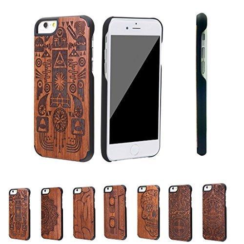 Sumgar ® Superior qualità eleganza unica Eco-friendly legno naturale e PC Hard Case Mobile cover (Genuino Nero Piastra)