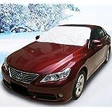 Boonor cubierta de la rueda del coche, la cubierta de nieve cubierta de parabrisas parabrisas, el parasol protección protector protector externo, 150 * 118 cm (Auto)