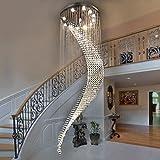 Pendelleuchten Led Moderne Duplex Treppen Kristall Licht Lange Kronleuchter Villa Hall Hängeleuchten ( ausgabe : 10 lamp head-70*240cm )