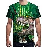 Mitlfuny Dia de San Patricio Camiseta de Manga Corta para Hombre Verano Estampado Verde Tops Cuello Redondo Deportes Pullover tee Adolescente Casual Moda Slim Algodón Camisa