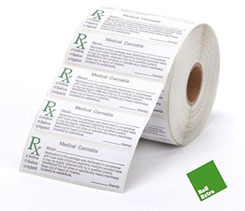 Rouleau de 100 x RX Medical Labels – Autocollant étiquettes pour Squeeze Pop Hauts, fioles, conformes à la Norme Fatigue étiquettes