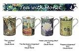 4 tazze decorate con dipinti di Claude Monet