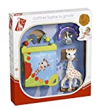 Sophie la girafe Birth Gift Set - Baby Teether, Rattle, and Activity Book