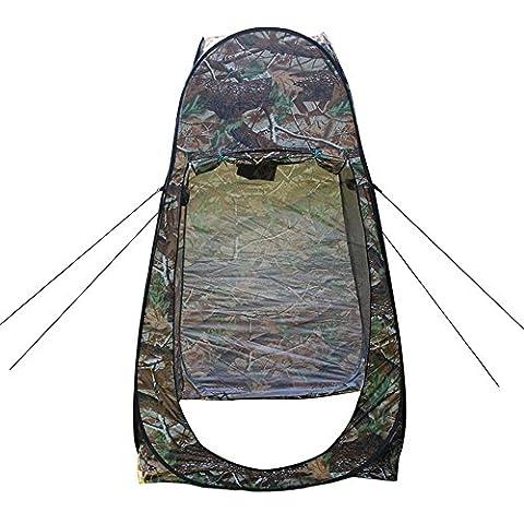 YHKQS-KQS Tente de toilette automatique à pop-up Outdoor Portable Waterproof Camping Beach Toilette Salle de bain privée Tents Backpack Shelter 120 * 120 * 195CM