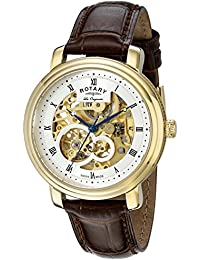 amazon co uk rotary watches outlet watches rotary men s gs90506 06 analog display swiss automatic brown watch