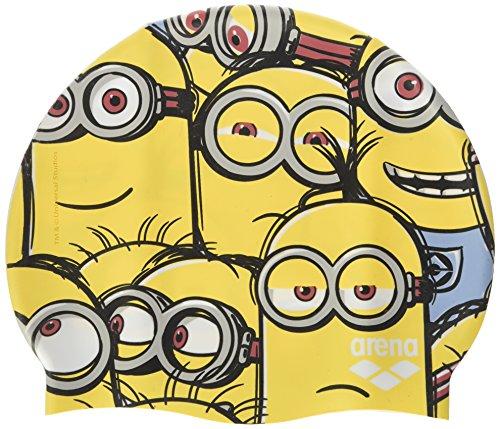 Arena minions jr, cuffia piscina bambino, giallo, taglia unica