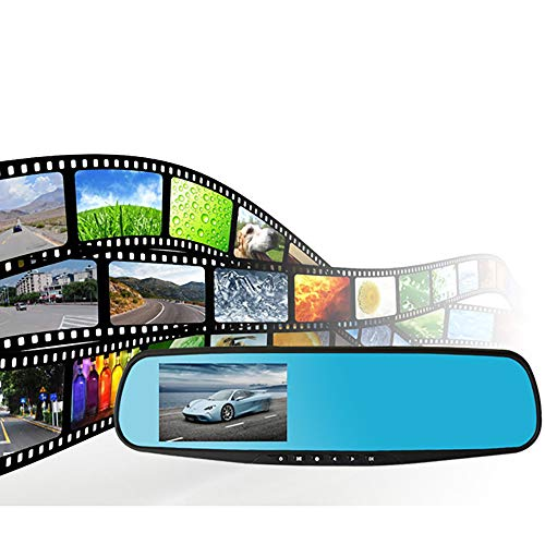 Prevently Auto-Dash-Kamera, Autokamera Dashcam Rückspiegel Rekorder Fahren Mit Rückfahrkamera1080P HD Auto Dash Kamera Dual Cam Fahrzeug Vorne Hinten DVR Objektiv Video Recorder