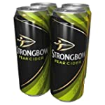 Strongbow Pear Cider Can, 4 x 500ml