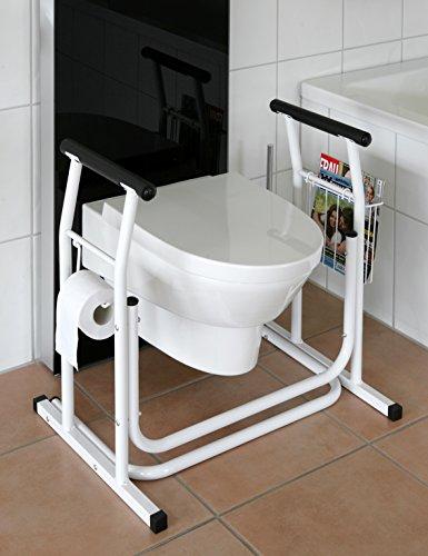 Mobile- WC-Aufstehhilfe Toiletten Stützgestell Haltegriff für Bad Stützgriff Halteschiene