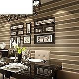 Einfache und Moderne Tapeten/Horizontalen Streifen Tapete/Stempeln Vliestapete/Braune Tapete/das Wohnzimmer TV Hintergrundbild-A