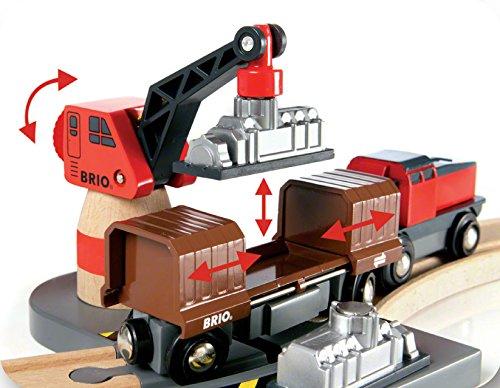 Imagen 7 de Brio - Set circuito de tren, puerto de cargar y descargar (33061)