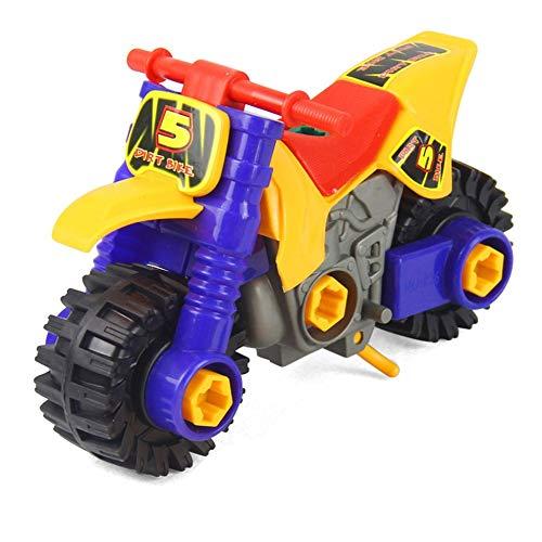 Mini desmontaje de la playa de la moto Puzzle de juguete del coche del juguete del desarrollo de los niños