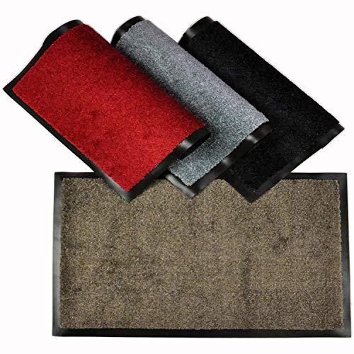 WohnDirect Fußmatte für Innen mit Rand - Schmutzfangmatte für die Haustür - rutschfest und waschbar - Fussmatte in versch. Größen - Door Mat - 60x90 cm - Beige