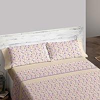 Burrito Blanco Juego de sábanas 450 Beige de cama de 120x190/200 cm