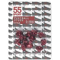 Tacos para zapatillas de fútbol, 8 x 10 mm y 4 x 13 mm, de 55Sport, rojo