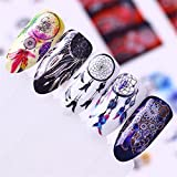 Born Pretty Nail Art Water Sticker Decal Dream Catcher Series Manicure Tatoo Transfer Sticker 12 Sheets Set