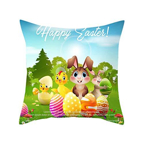 bezug, Ostern Kaninchen Druck Kissenbezug Polyester Sofa Auto Kissenbezug Home Decor ()